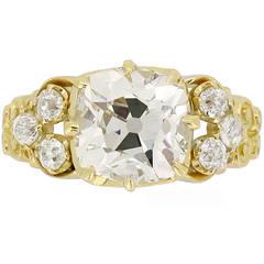 Antique Old Mine Diamond Ring circa 1895