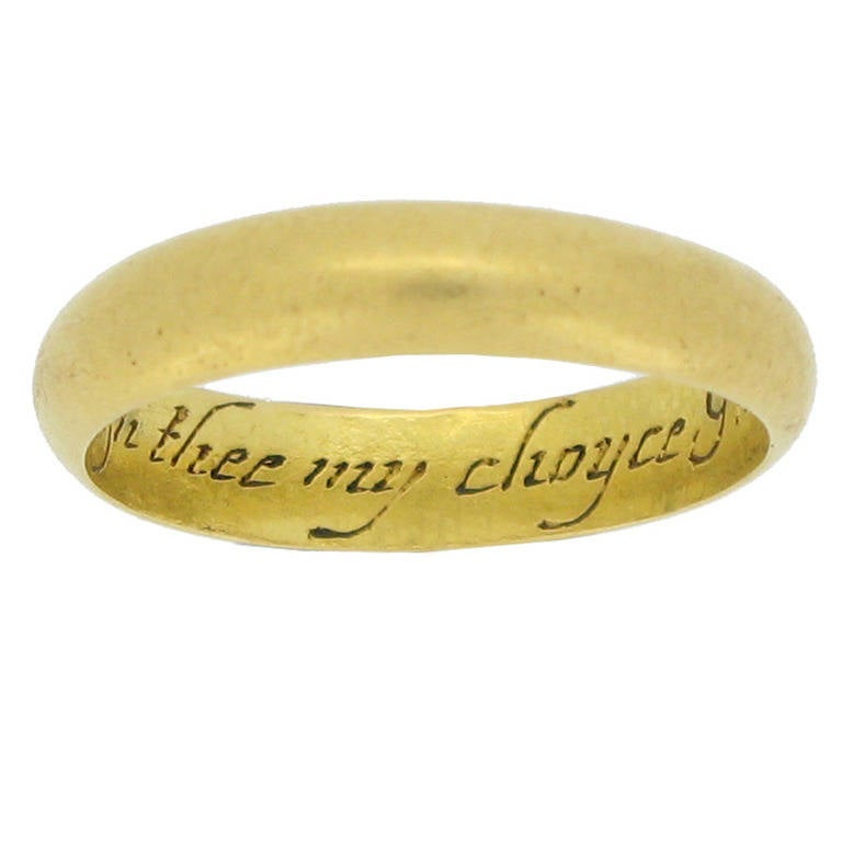 museum quality antique georgian gold posy ring in thee my