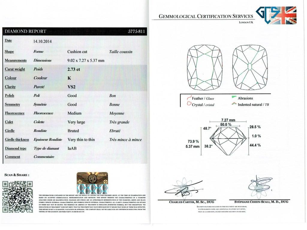 Art Deco Diamond Platinum Engagement Ring For Sale 3