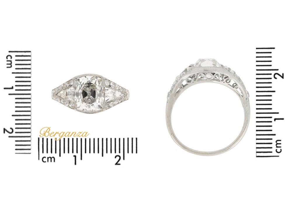Art Deco Diamond Platinum Engagement Ring 4