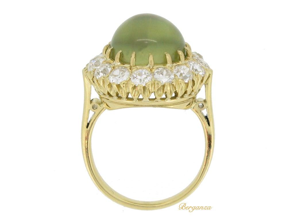Antique Chrysoberyl Cat S Eye Ring