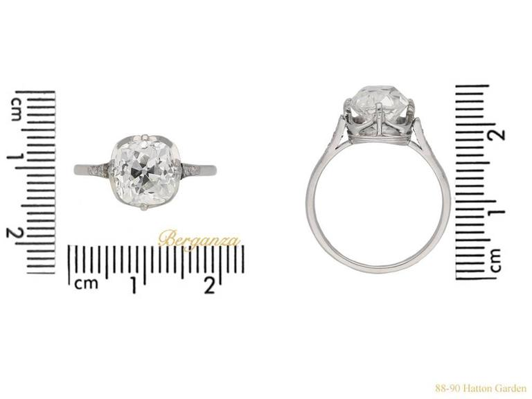 Antique English old mine diamond solitaire ring In Excellent Condition For Sale In London, GB