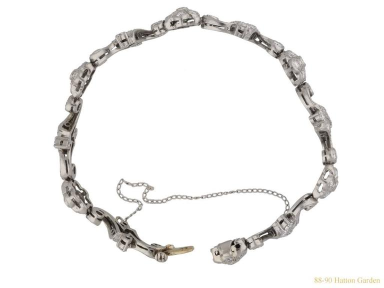 Tiffany & Co. Diamond Bracelet American, circa 1940 2