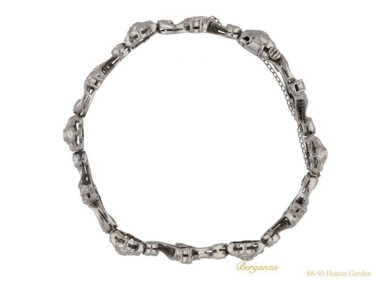 Tiffany & Co. Diamond Bracelet American, circa 1940 3