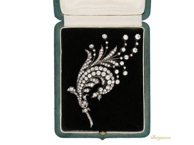 Antique diamond spray brooch, Germany, circa 1880.      5