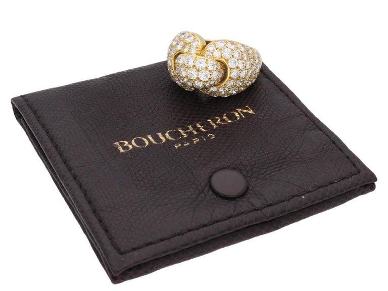 Boucheron Diamond and Yellow Gold Dress Ring For Sale 1