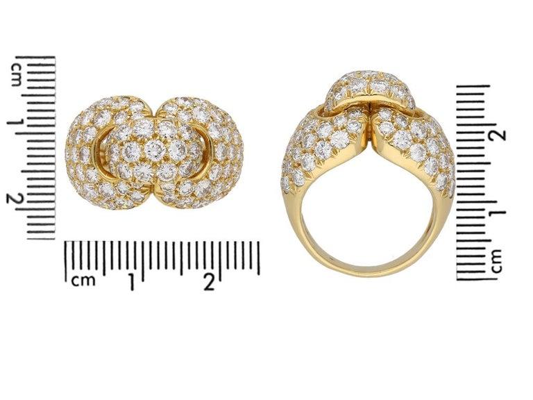 Boucheron Diamond and Yellow Gold Dress Ring For Sale 2