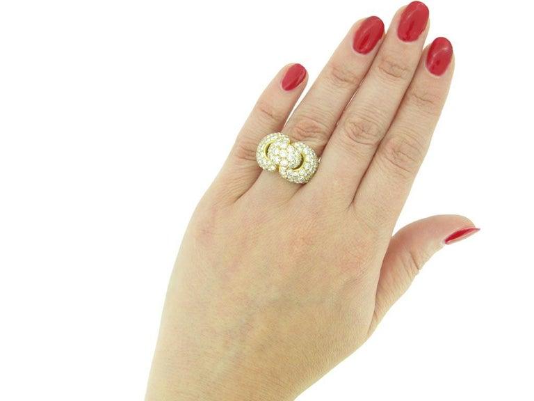 Boucheron Diamond and Yellow Gold Dress Ring For Sale 3