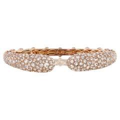 Bangle in 18 Karat Rose Gold with Diamond