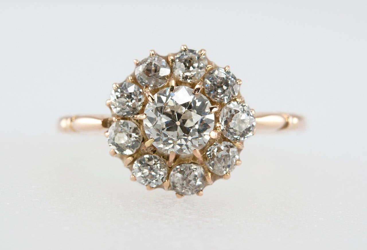 gold cluster ring at 1stdibs