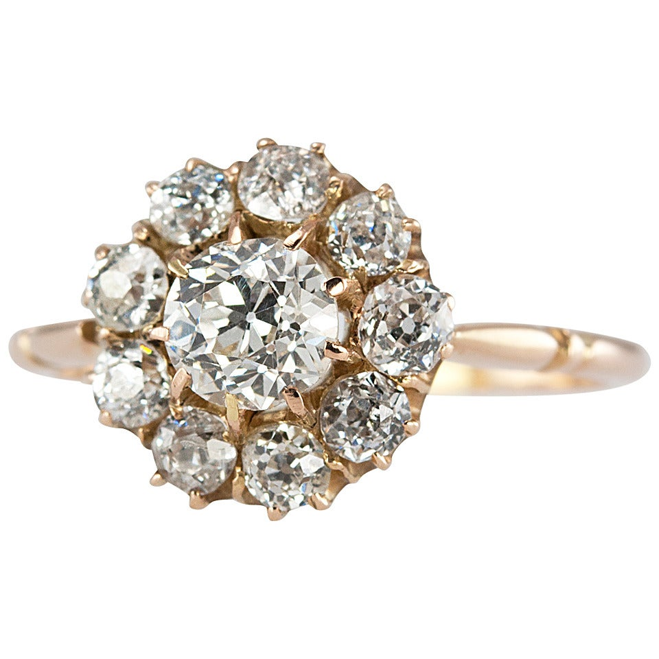 Beauiful Antique Cluster Rings