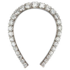 JE Caldwell Diamond Platinum Horseshoe Brooch