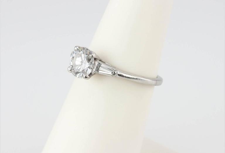 Cartier 1 Carat Round Brilliant Diamond Platinum Engagement Ring For Sale 3