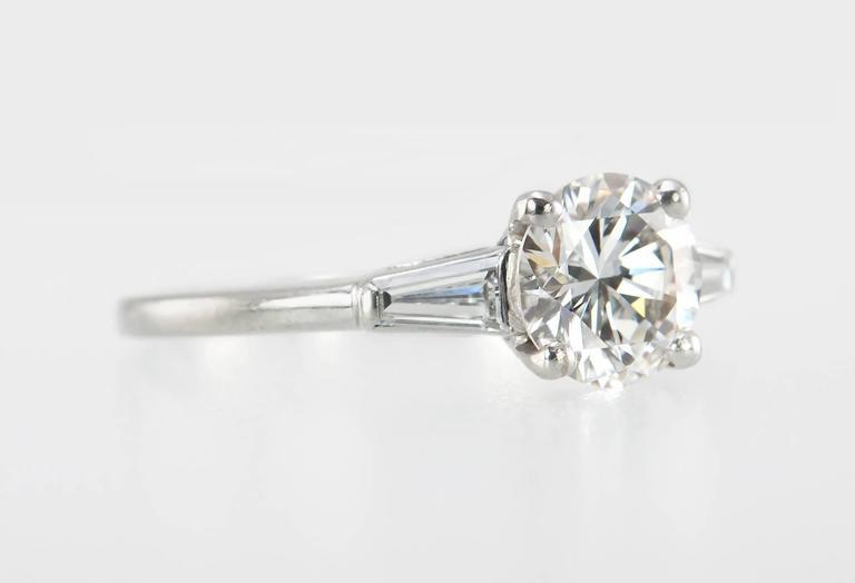 Cartier 1 Carat Round Brilliant Diamond Platinum Engagement Ring 3