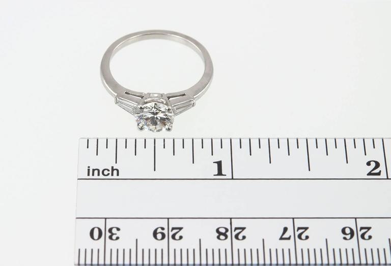 Cartier 1 Carat Round Brilliant Diamond Platinum Engagement Ring 9