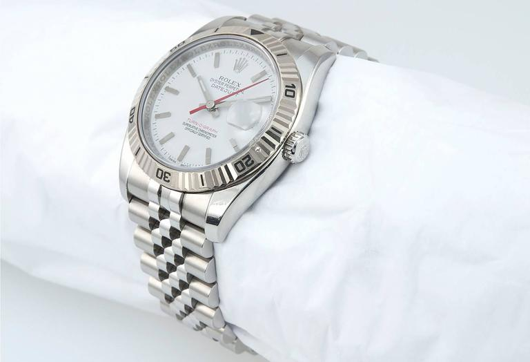 Rolex Stainless Steel DateJust Turn-O-Graph White Gold Bezel 2