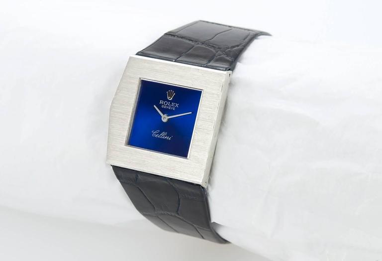 Rolex White Gold Cellini Midas Manual Wind Wristwatch Ref 4017 3