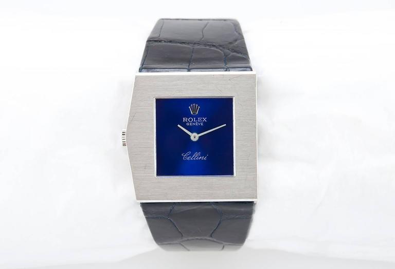 Rolex White Gold Cellini Midas Manual Wind Wristwatch Ref 4017 4
