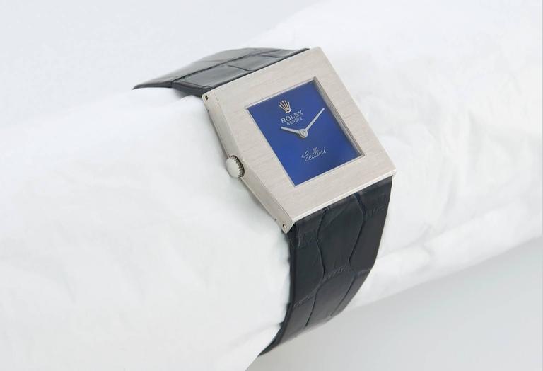 Rolex White Gold Cellini Midas Manual Wind Wristwatch Ref 4017 2