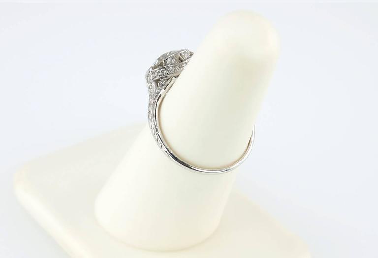 Edwardian 2.20 Carat Old European Cut Diamond Engagement Ring 9