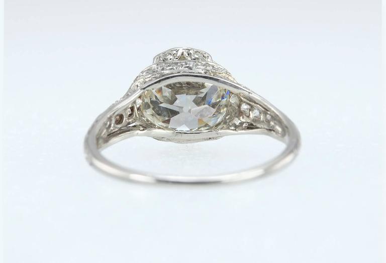 Edwardian 2.20 Carat Old European Cut Diamond Engagement Ring 5