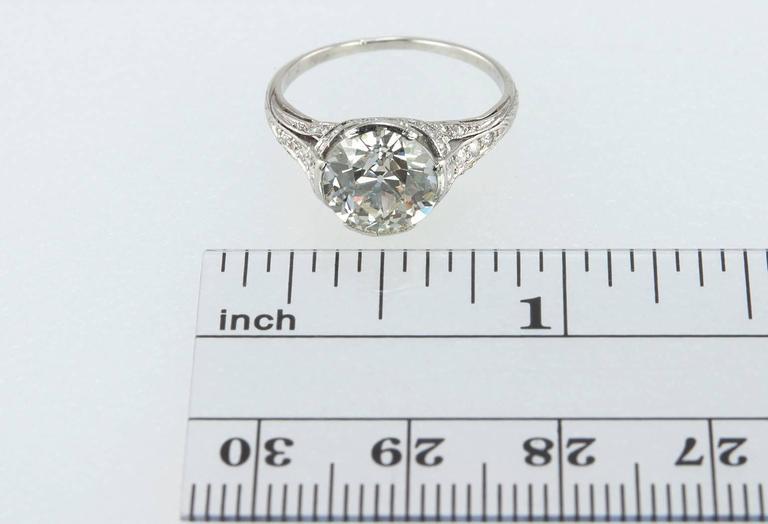 Edwardian 2.20 Carat Old European Cut Diamond Engagement Ring 10