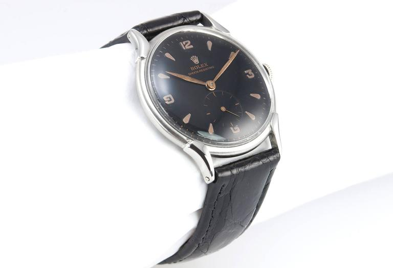 Rolex Dress Model Steel Wristatch Ref 4498 In Excellent Condition For Sale In Los Angeles, CA