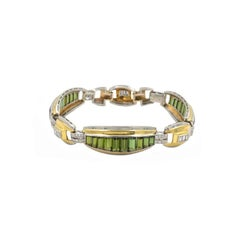 Tourmaline and Diamond Art Deco Bracelet, circa 1930