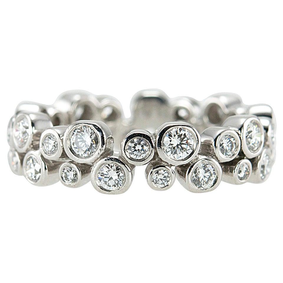Tiffany And Co Bubbles Diamond Platinum Eternity Band At
