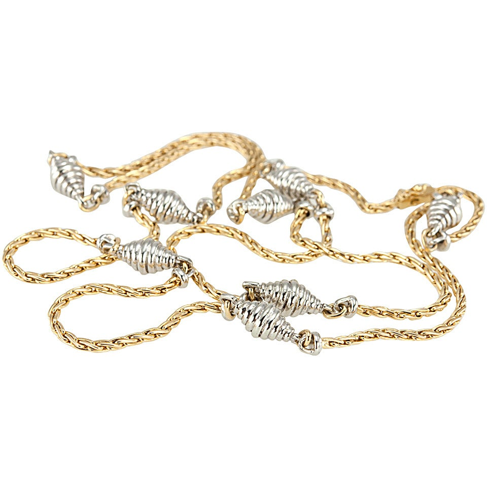 Cartier Two Color Gold Chain Necklace