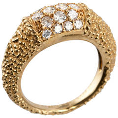 Van Cleef & Arpels Philippine Diamond Textured Gold Ring