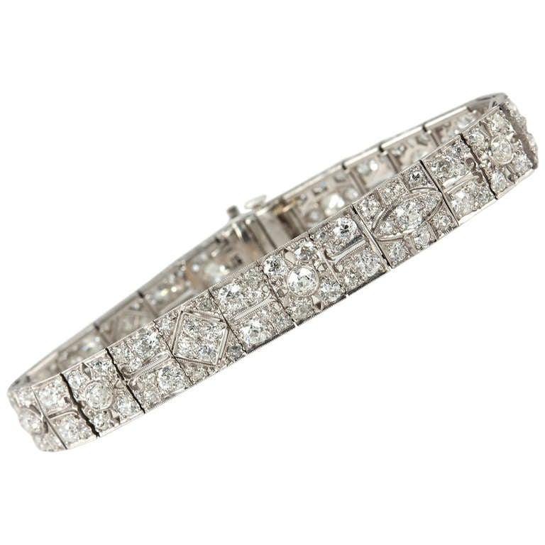Art Deco Bracelet with Old European Cut Diamonds