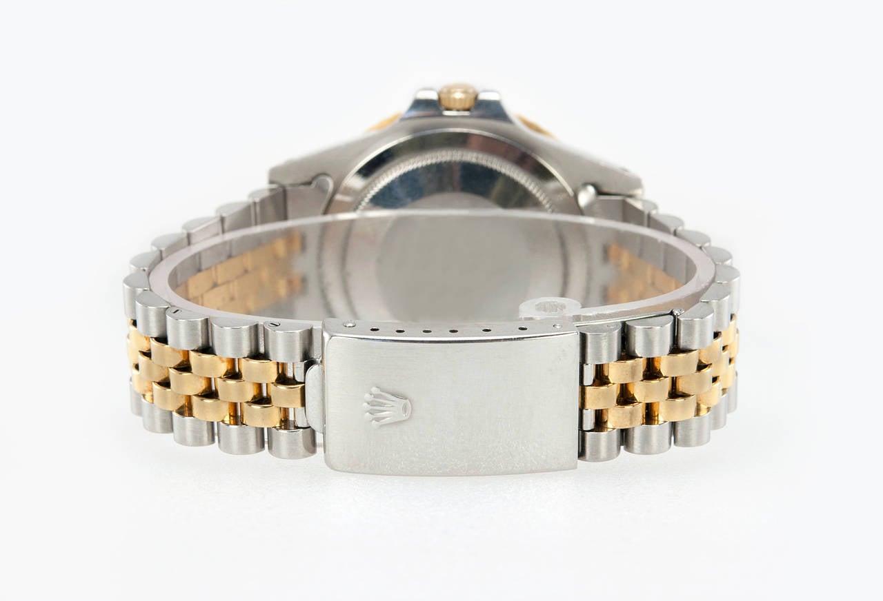 Rolex Yellow Gold Stainless Steel GMT Master Wristwatch Ref 16753 5