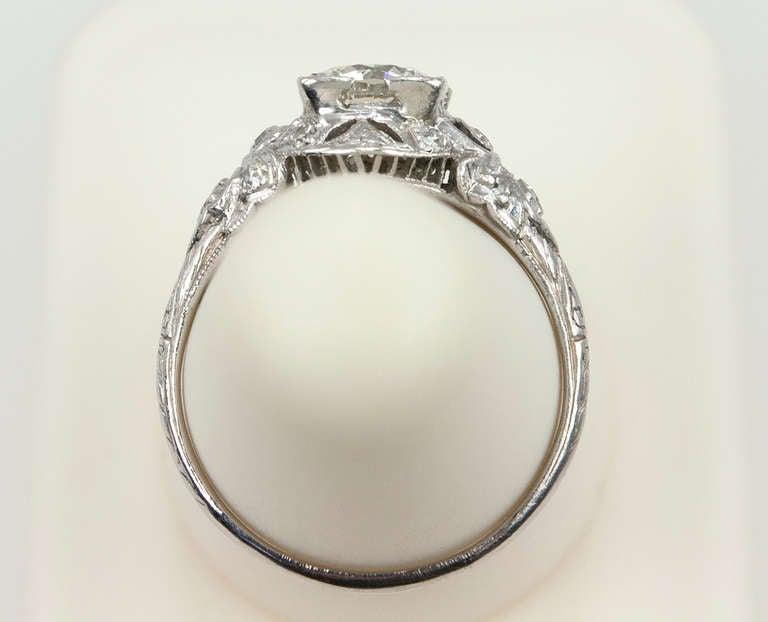 Edwardian 1.05 Carat Diamond Engagement Ring 10