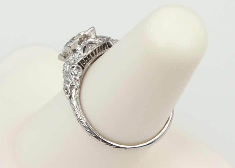 Edwardian 1.05 Carat Diamond Engagement Ring 9