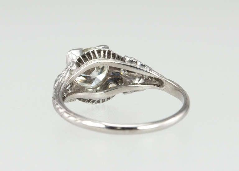 Edwardian 1.05 Carat Diamond Engagement Ring 7