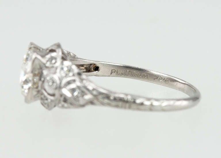 Edwardian 1.05 Carat Diamond Engagement Ring 8
