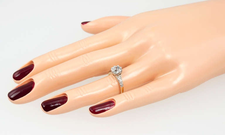 Splendid Victorian 1.25 Carat Engagement Ring In Good Condition For Sale In Los Angeles, CA