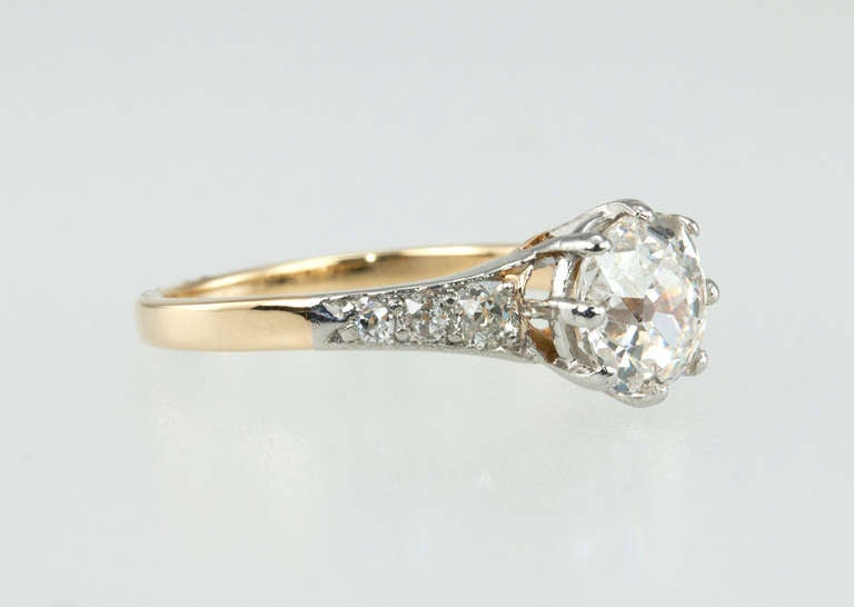 Women's Splendid Victorian 1.25 Carat Engagement Ring For Sale