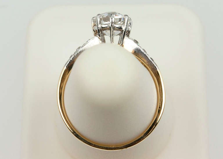 Splendid Victorian 1.25 Carat Engagement Ring For Sale 6