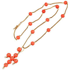 Victorian Coral Bead Necklace