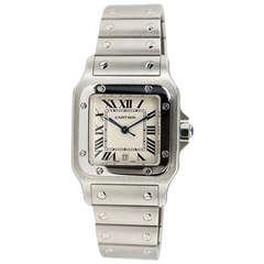 Cartier Stainless Steel Man's Santos Wristwatch with Date circa 2000s