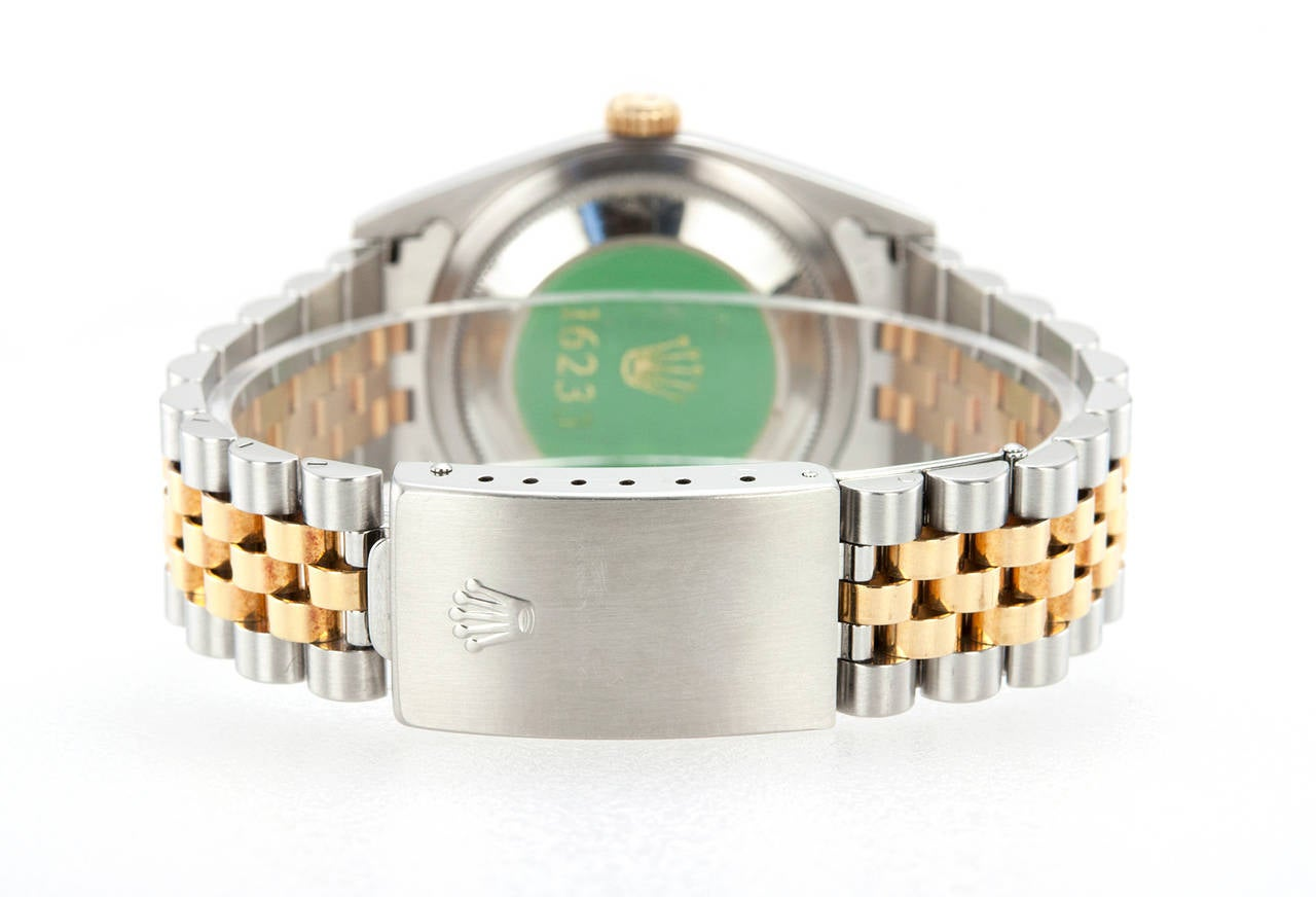 Rolex Yellow Gold Stainless Steel DateJust Wristwatch Ref 16233 5