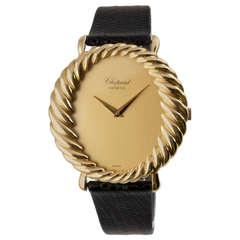 Chopard Lady's Yellow Gold Twisted Bezel Wristwatch circa 1970s