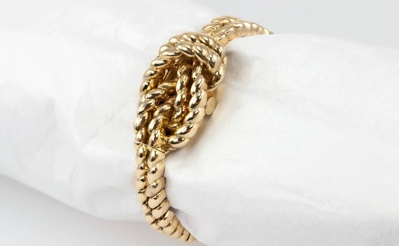 Van Cleef And Arpels Hidden Watch Gold Knot Bracelet