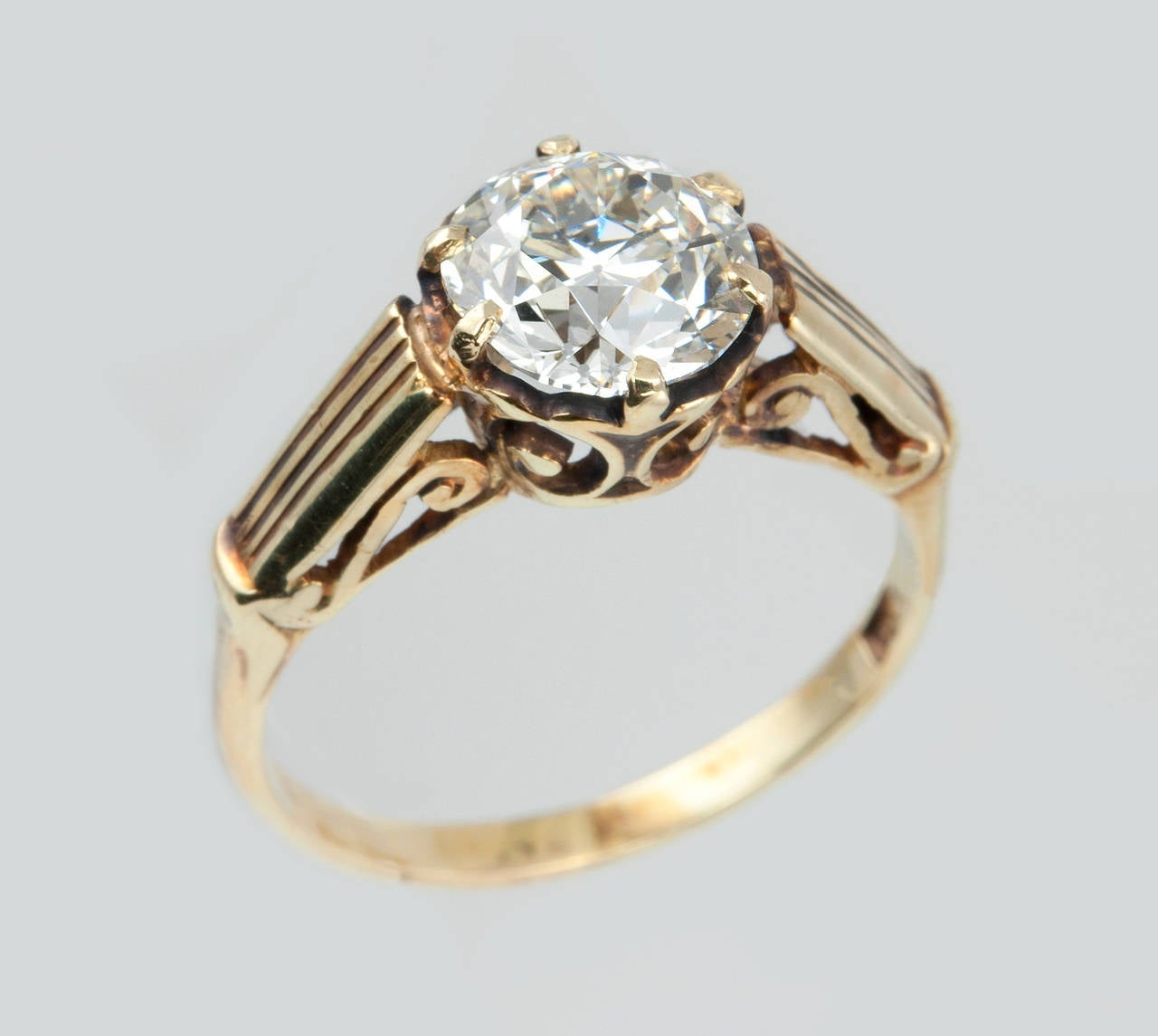160 Carat Victorian Diamond Solitaire Engagement Ring 2