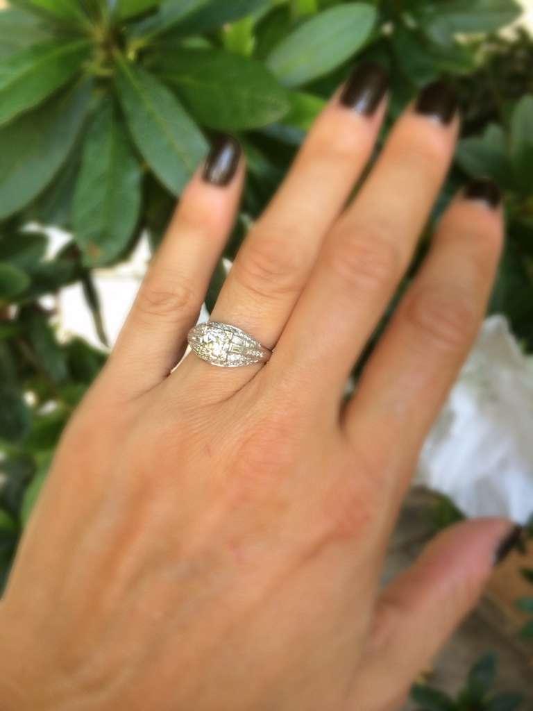 Elegant Deco Diamond Ring For Sale 4