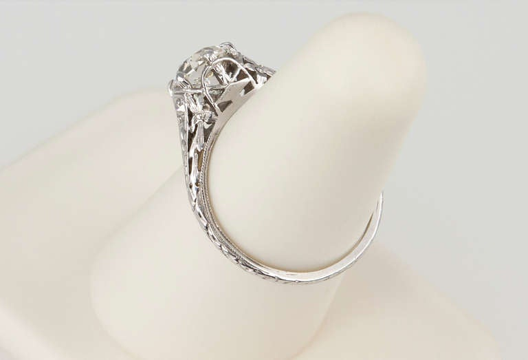 Edwardian 1.17 Carat Diamond Ring For Sale 2