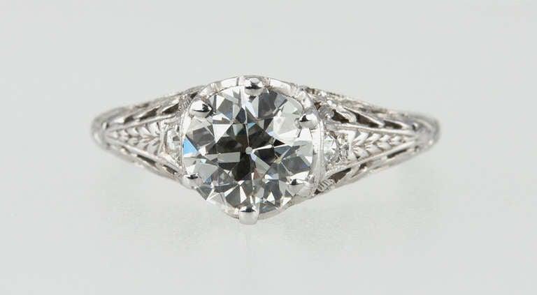 Women's Edwardian 1.17 Carat Diamond Ring For Sale