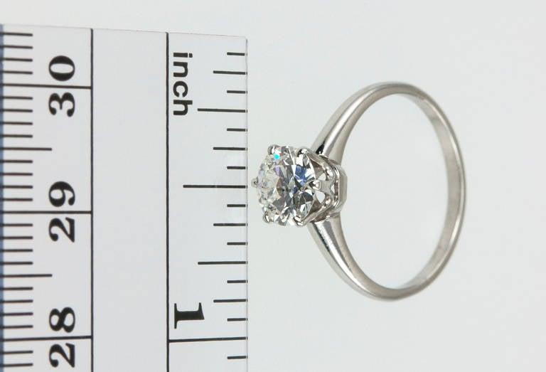1.01 Carat Diamond Platinum Solitaire Ring 1930s 2
